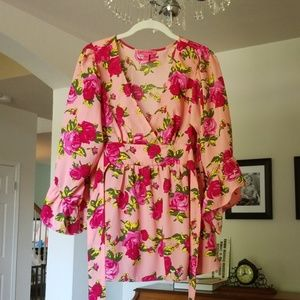 Brll sleeve floral blouse by Betsey Johnson